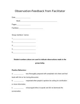 Lit Circle Facilitator Guide