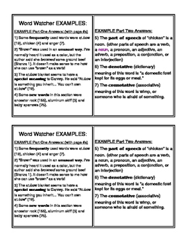 Lit Circle Role Cards with Examples