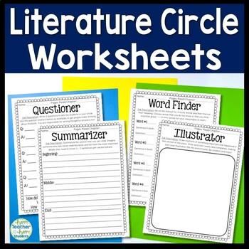 Lit Circles Worksheets - Use these 4 Literature Circle Wor