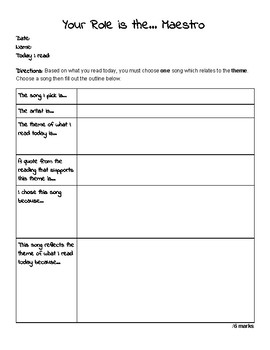 Lit Circles/Literature Circles Student Booklet