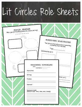 Lit Circles Role Sheets