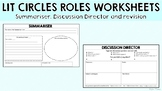 Lit Circles Roles Worksheets - Discussion Director and Summariser