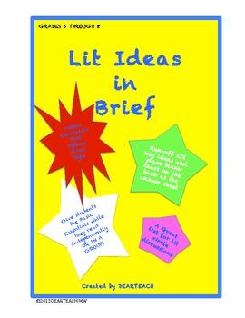 Lit Fiction Ideas in Brief