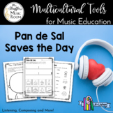 Lit & Listen: Pan De Sal Saves the Day - Worksheets, Liste