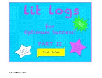 Lit Logs for Students' Optimum Success: Part II