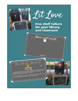 Lit Love Shelf Talkers -- With 2016 medal award winners