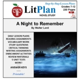 LitPlan Teacher Guide: A Night To Remember - Lesson Plans,