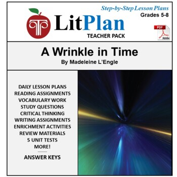 LitPlan Teacher Guide: A Wrinkle in Time -- Lesson Plans, Questions, Tests