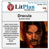 LitPlan Teacher Guide: Dracula - Lesson Plans, Questions, Tests