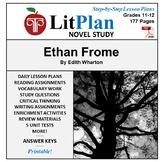 LitPlan Teacher Guide - Lesson Plans, Questions, Tests: Ethan Frome