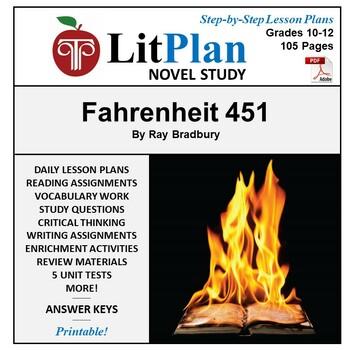 LitPlan Teacher Guide: Fahrenheit 451 - Lesson Plans, Questions, Tests