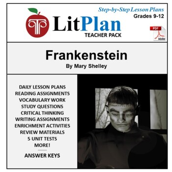 LitPlan Teacher Guide: Frankenstein - Lesson Plans, Questi