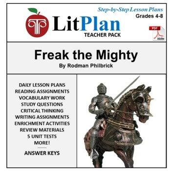 LitPlan Teacher Guide: Freak the Mighty - Lesson Plans, Questions, Tests