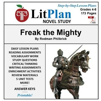 LitPlan Teacher Guide: Freak the Mighty - Lesson Plans, Qu