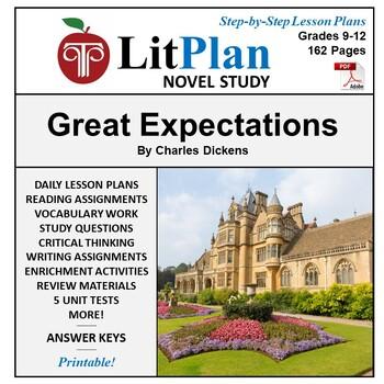 LitPlan Teacher Guide: Great Expectations - Lesson Plans, Questions, Tests