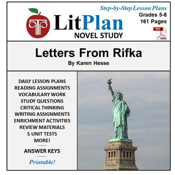 LitPlan Teacher Guide: Letters From Rifka - Lesson Plans, Questions, Tests