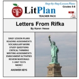 LitPlan Teacher Guide: Letters From Rifka - Lesson Plans, Questions, Tests