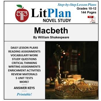 LitPlan Teacher Guide: Macbeth - Lesson Plans, Questions, Tests