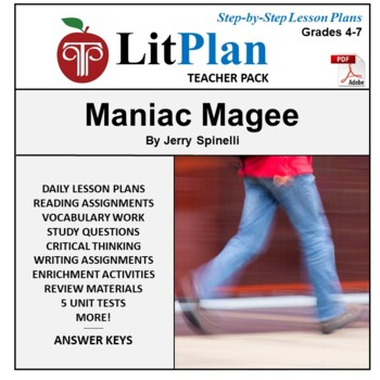 LitPlan Teacher Guide: Maniac Magee - Lesson Plans, Questions, Tests