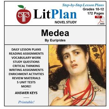 LitPlan Teacher Guide: Medea - Lesson Plans, Questions, Tests