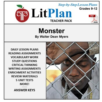 LitPlan Teacher Guide: Monster - Lesson Plans, Questions, Tests
