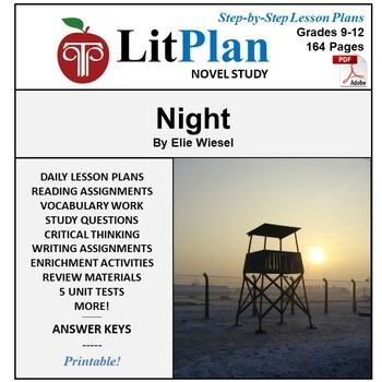 LitPlan Teacher Guide: Night (Wiesel) - Lesson Plans, Questions, Tests