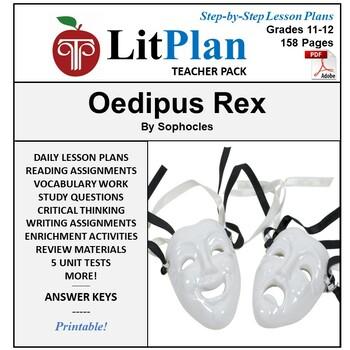 LitPlan Teacher Guide: Oedipus Rex - Lesson Plans, Questions, Tests