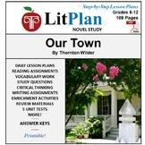 LitPlan Teacher Guide: Our Town - Lesson Plans, Questions, Tests
