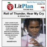 LitPlan Teacher Guide: Roll of Thunder Hear My Cry - Lesson Plans, Questions ...