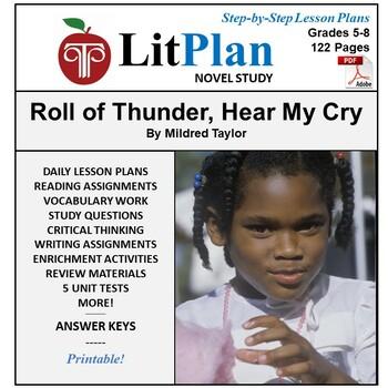 LitPlan Teacher Guide: Roll of Thunder Hear My Cry - Lesso