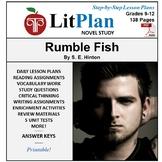 LitPlan Teacher Guide: Rumble Fish - Lesson Plans, Questions, Tests