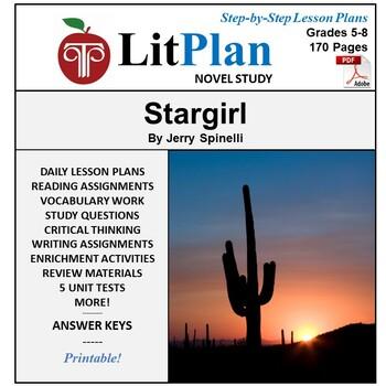 LitPlan Teacher Guide: Stargirl - Lesson Plans, Questions, Tests