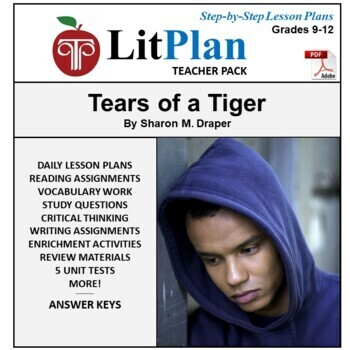 LitPlan Teacher Guide: Tears of a Tiger - Lesson Plans, Questions, Tests