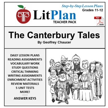 LitPlan Teacher Guide: The Canterbury Tales - Lesson Plans, Questions, Tests