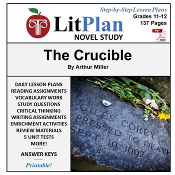 LitPlan Teacher Guide: The Crucible - Lesson Plans, Questions, Tests