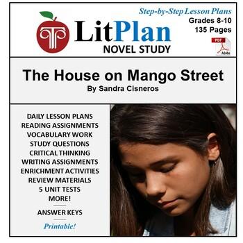 LitPlan Teacher Guide: The House on Mango Street - Lesson Plans, Questions Tests