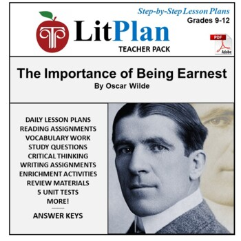 LitPlan Teacher Guide: The Importance of Being Earnest - Lesson Plans, Study ...