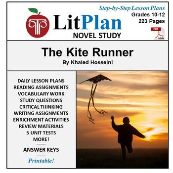 LitPlan Teacher Guide: The Kite Runner - Lesson Plans, Questions, Tests