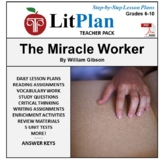LitPlan Teacher Guide: The Miracle Worker - Lesson Plans,