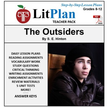 LitPlan Teacher Guide: The Outsiders - Lesson Plans, Questions, Tests