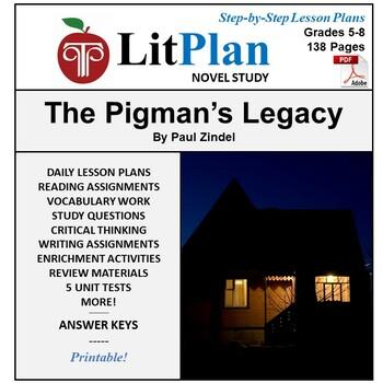 LitPlan Teacher Guide: The Pigman's Legacy - Lesson Plans, Questions, Tests
