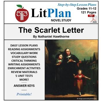 LitPlan Teacher Guide: The Scarlet Letter - Lesson Plans,