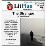 LitPlan Teacher Guide: The Stranger (Camus) - Lesson Plans, Questions, Tests