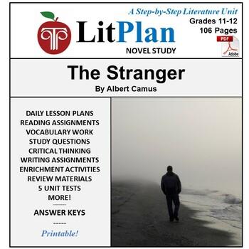 LitPlan Teacher Guide: The Stranger (Camus) - Lesson Plans
