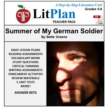 LitPlan Teacher Guide: The Summer of My German Soldier - Lesson Plans, Questions