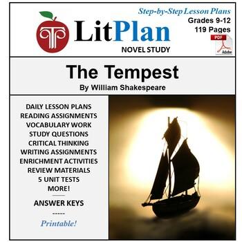 LitPlan Teacher Guide: The Tempest - Lesson Plans, Questio