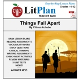 LitPlan Teacher Guide: Things Fall Apart - Lesson Plans, Questions, Tests