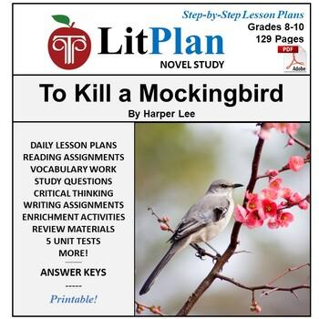 LitPlan Teacher Guide: To Kill a Mockingbird - Lesson Plans, Questions, Tests