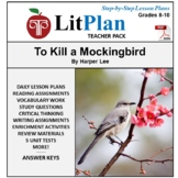 LitPlan Teacher Guide: To Kill a Mockingbird - Lesson Plans, Questions, Tests