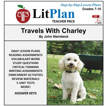 LitPlan Teacher Guide: Travels With Charley - Lesson Plans